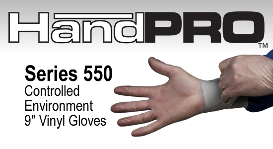 HandPRO 550 Cleanroom Vinyl Gloves