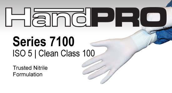 HandPRO 7100 Nitrile Cleanroom Gloves