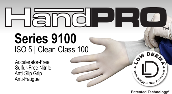 HandPRO 9100 Nitrile Cleanroom Gloves