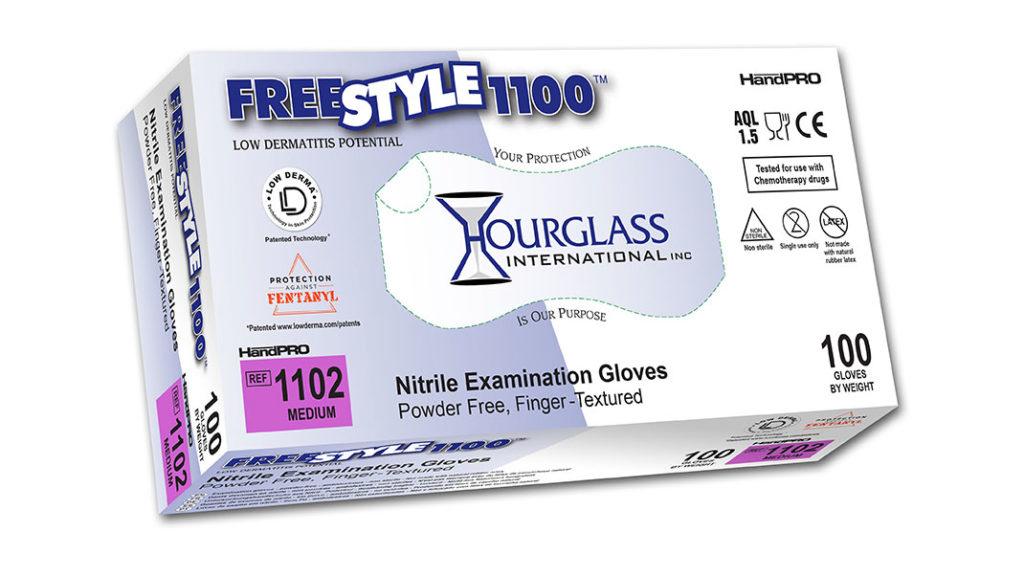FreeStyle1100 Accelerator-Free Nitrile Exam Gloves Box