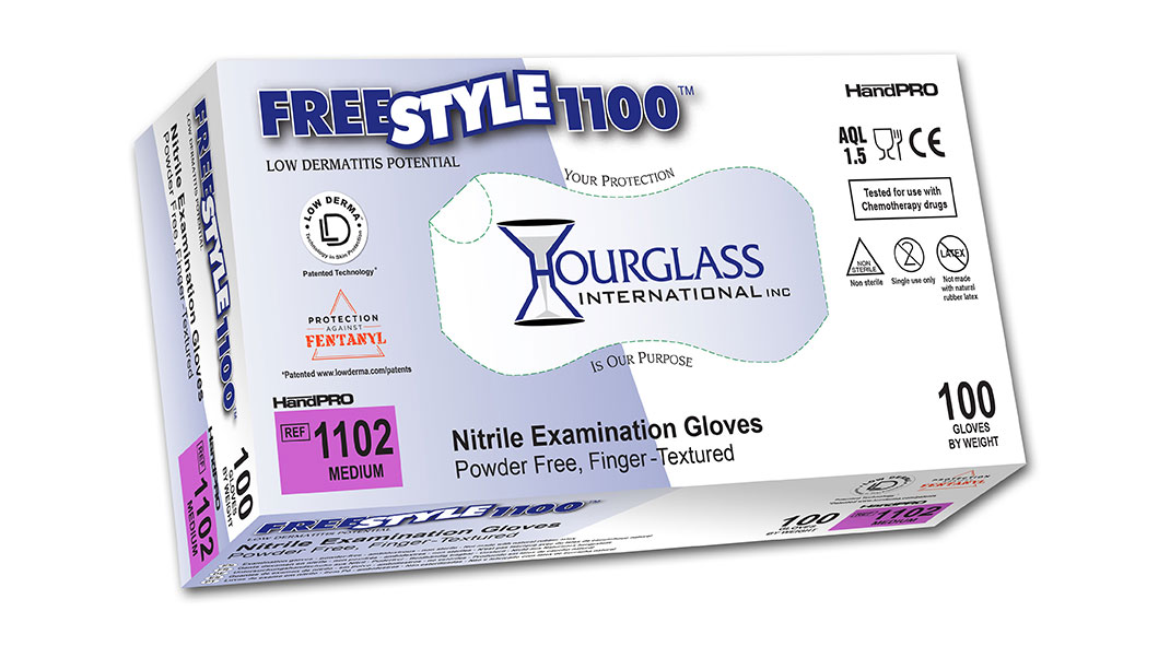 FreeStyle1100 Accelerator-Free Nitrile Exam Gloves Box