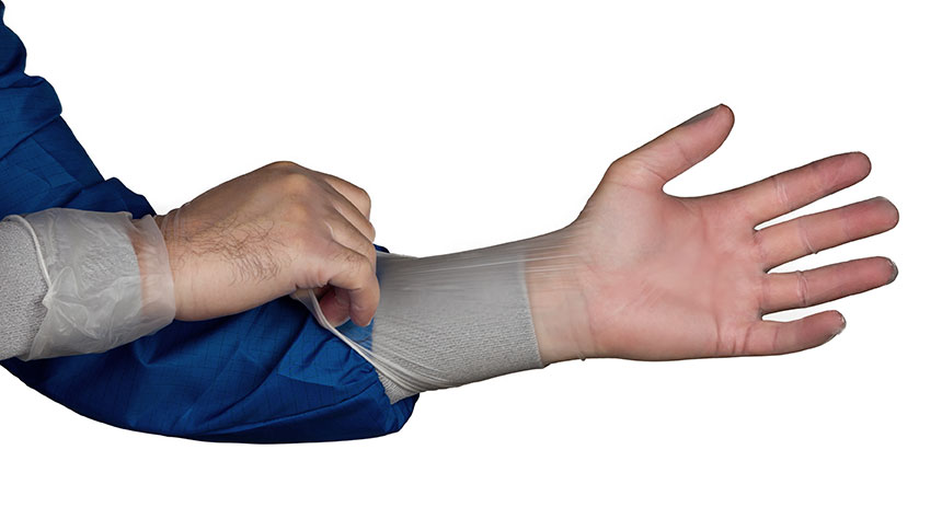 HandPR) 1550 Vinyl ISO 5 Gloves