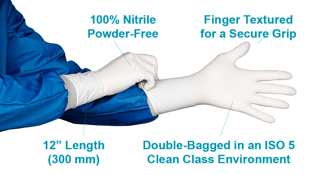 HandPRO 7100 Nitrile Cleanroom Gloves Features