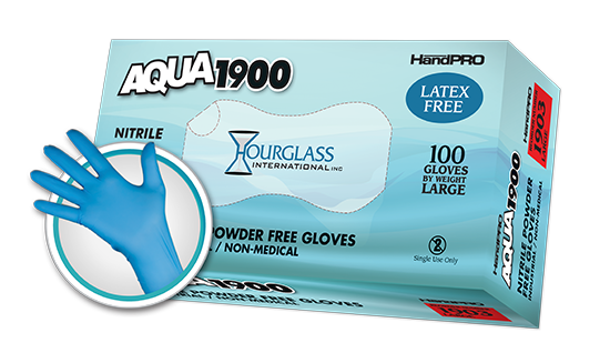 Aqua1900 Nitrile Gloves Hourglass International Inc