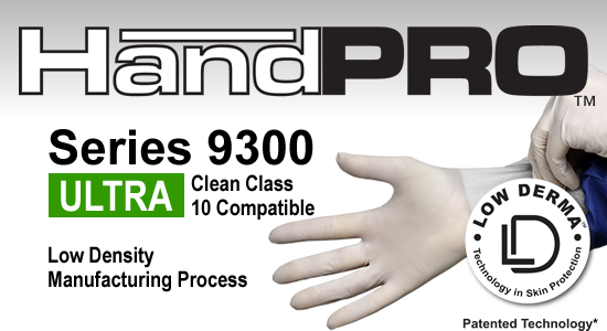 HandPRO 9300 Series Cleanroom Gloves Accelerator Free