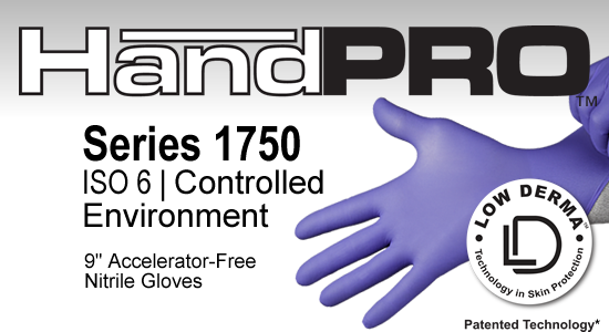 HandPRO 1750 Controlled Environment Nitrile Gloves Accelerator-Free