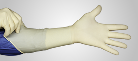 "HandPRO Series LSCT 400S Sterile Hand Specific 16"" Latex Gloves"