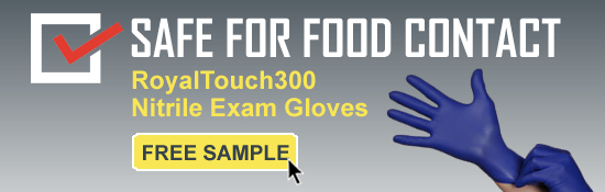 Request Free Sample of RoyalTouch300 Food Safe Gloves
