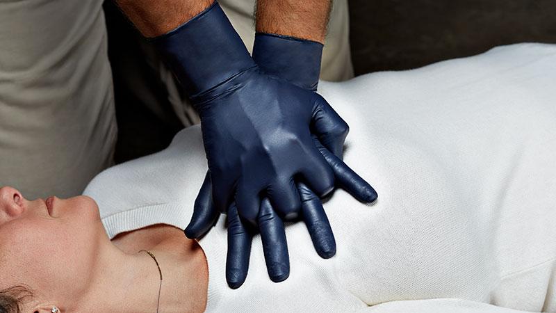 Fortis500 EMS Black Nitrile Glove
